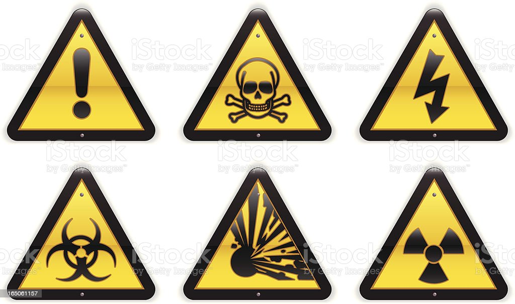 Warning & Safety Signs (Detailed) vector art illustration