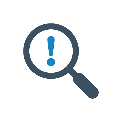 Warning Search  icon