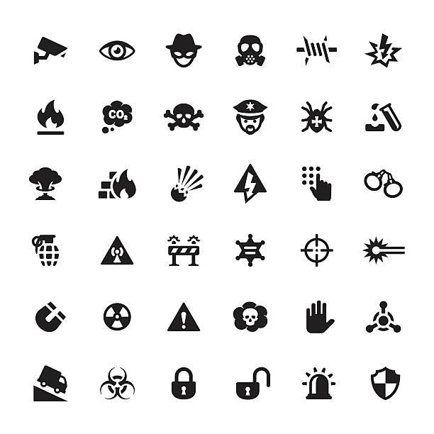 warning & security vector symbols and icons - hacker 幅插畫檔、美工圖案、卡通及圖標
