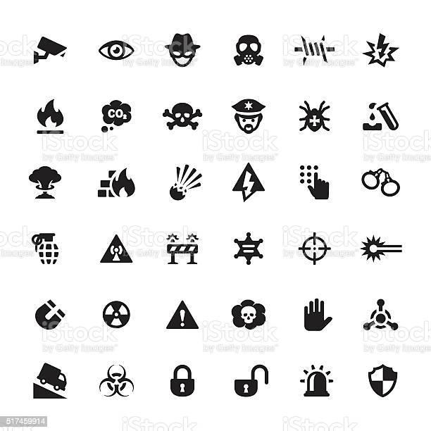 Предупреждение Безопасности Вектор Символы И Значки — стоковая векторная графика и другие изображения на тему Безопасность