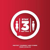 Warning sign about Coronavirus or Covid-19 vector illustration