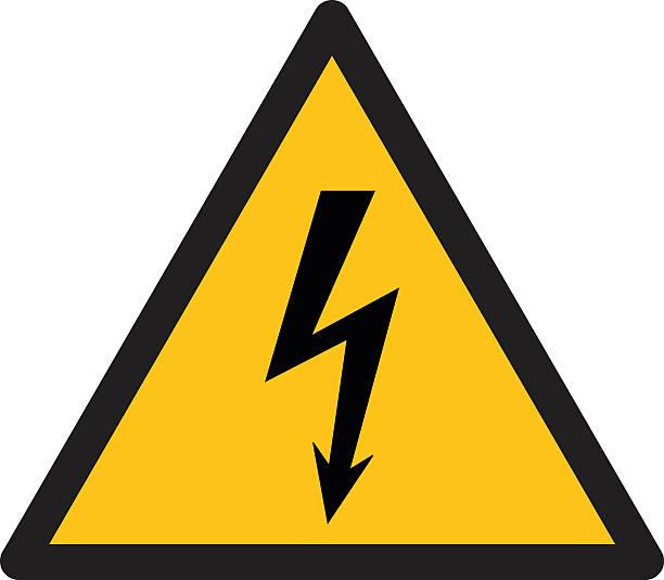 Warning sign, BEWARE HIGH VOLTAGE Warning sign, BEWARE HIGH VOLTAGE  high voltage sign stock illustrations