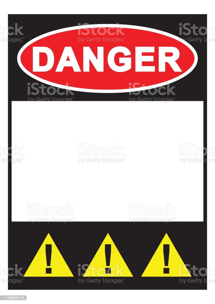 graphic relating to Free Printable Warning Signs known as Caution Indication Hazard Signal With Blank Region For Your Words