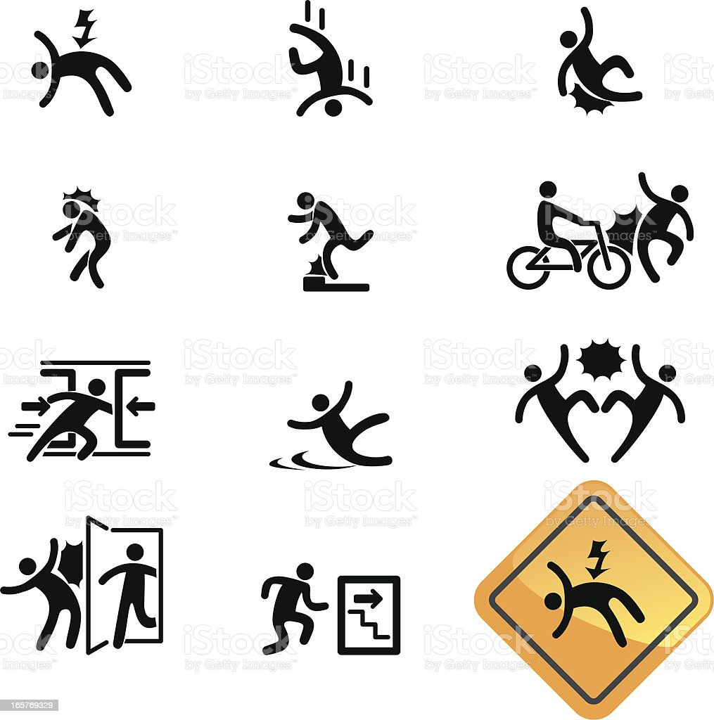 Warning Sign Icon vector art illustration