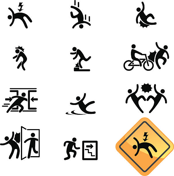 Warning Sign Icon Vector file of Warning Sign Set vehicle door stock illustrations