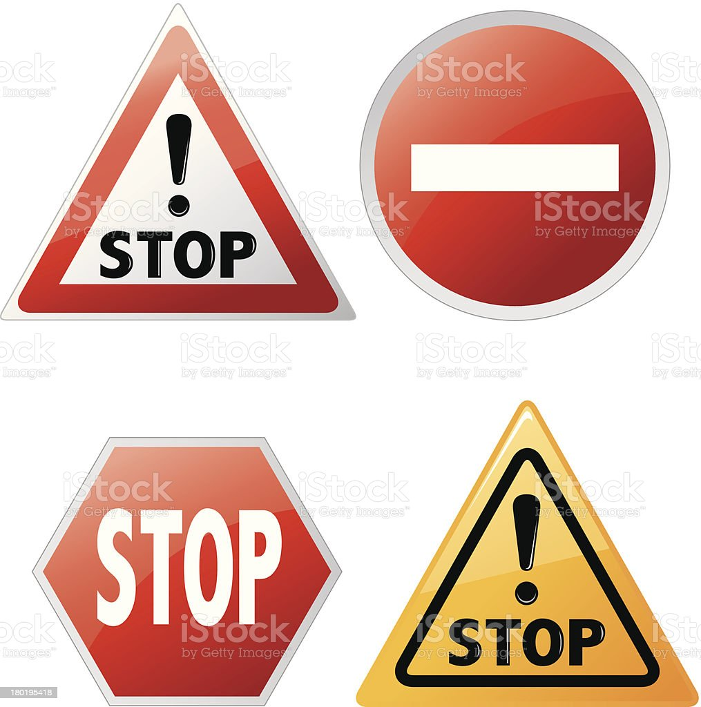 warning sign set Vector royalty-free stock vector art