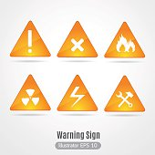 Warning sign vector.