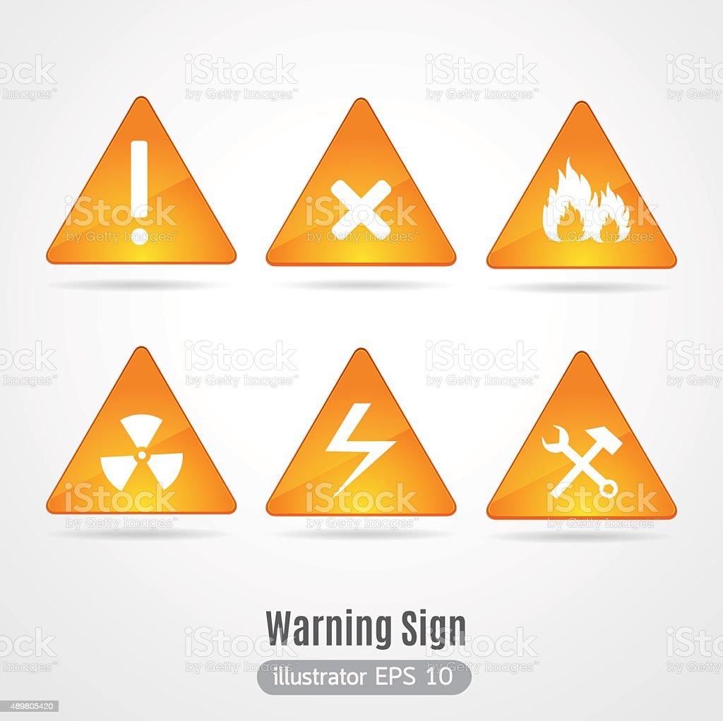 Warning sign vector. vector art illustration