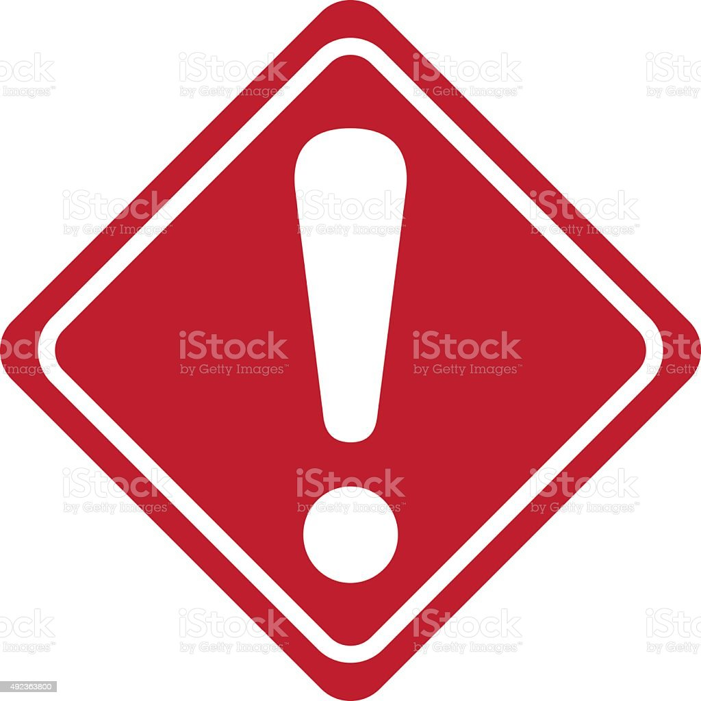warning sign Vector vector art illustration