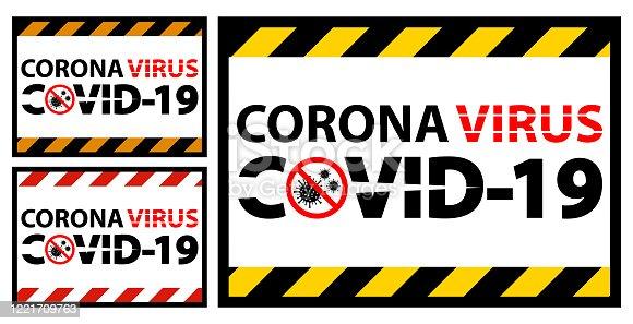 istock Warning sign,caution outbreak coronavirus covid 19 1221709763