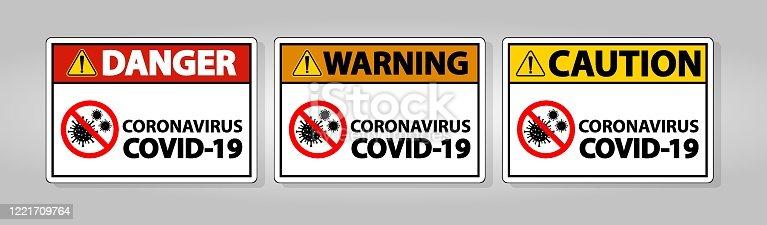 istock Warning sign,caution outbreak coronavirus covid 19 1221709764