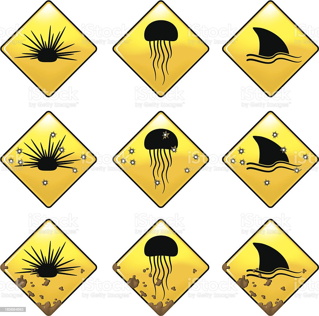 warning signs beach stock vector art amp more images of