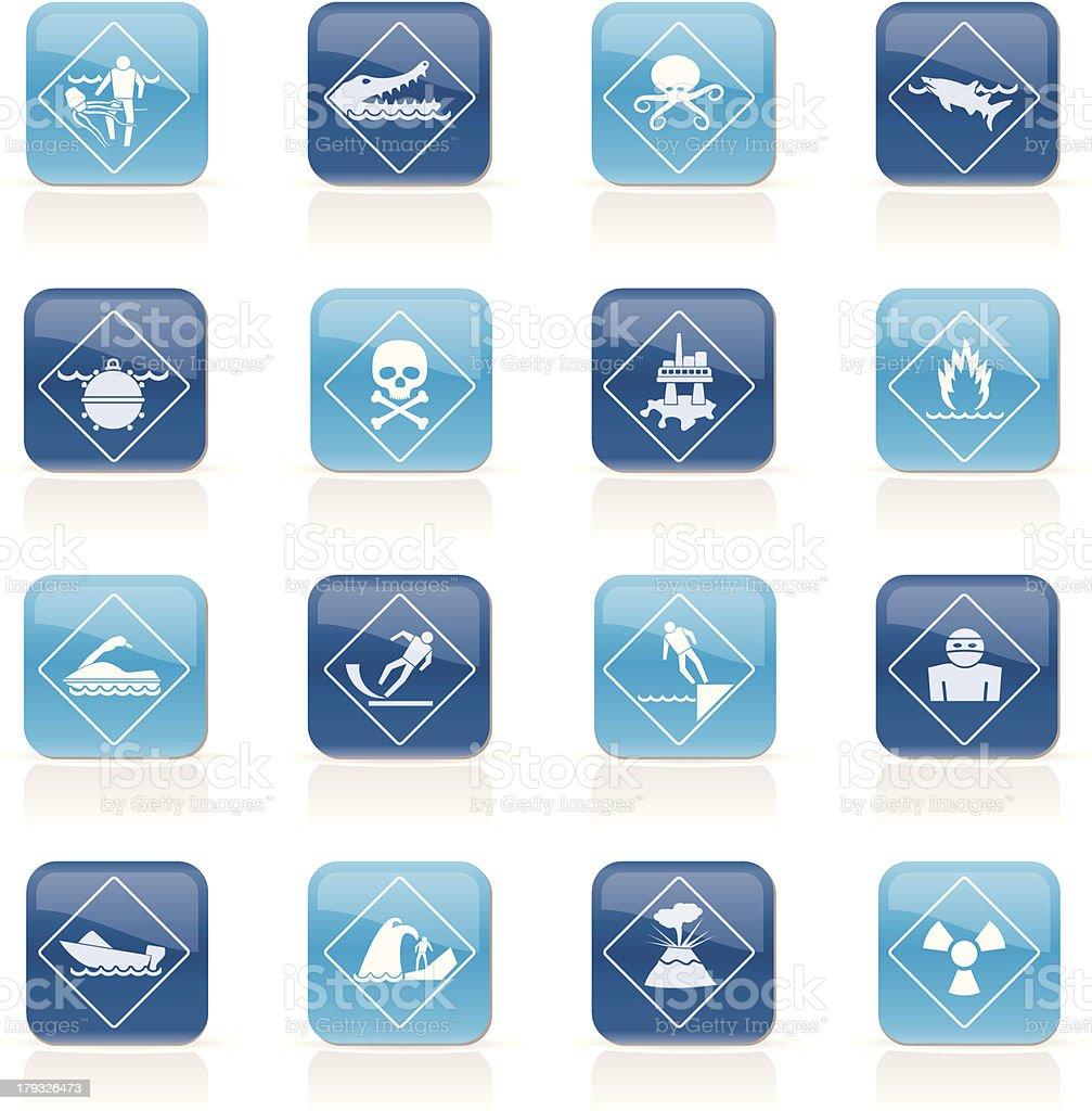 Warning Signs for dangers in sea, ocean, beach and rivers royalty-free warning signs for dangers in sea ocean beach and rivers stock vector art & more images of beach