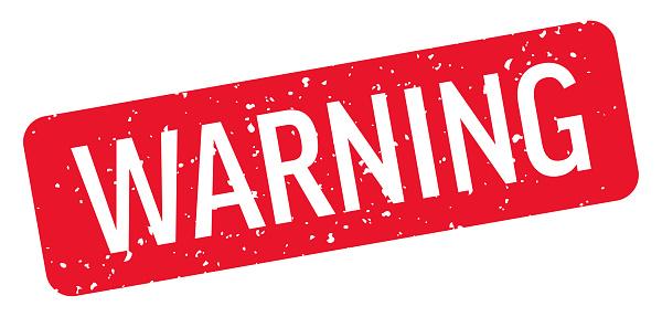 Warning - Stamp, Imprint, Seal Template. Vector Stock Illustration