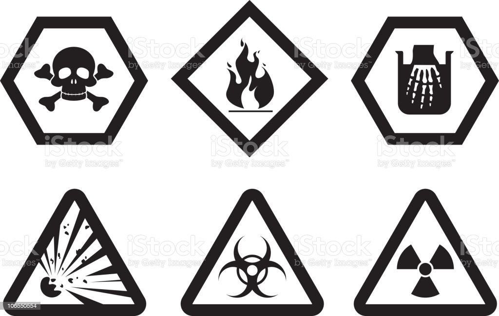 Warning Symbols Stock Vector Art More Images Of Biochemical Weapon