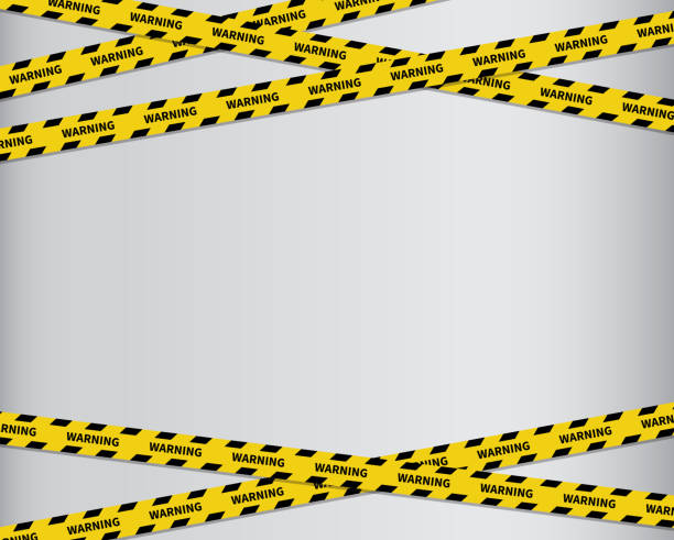 Warning tape. Black and yellow line striped. Vector illustration Warning tape. Black and yellow line striped. Vector illustration crime scene stock illustrations