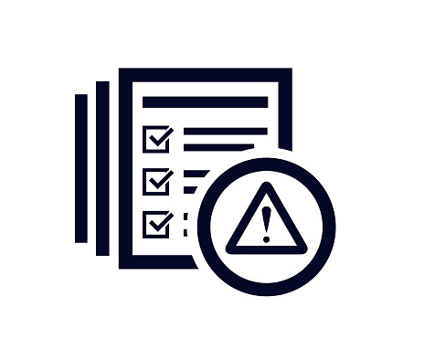 and document list with tick check marks vector illustration.