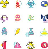The vector files of warning sign icon set.