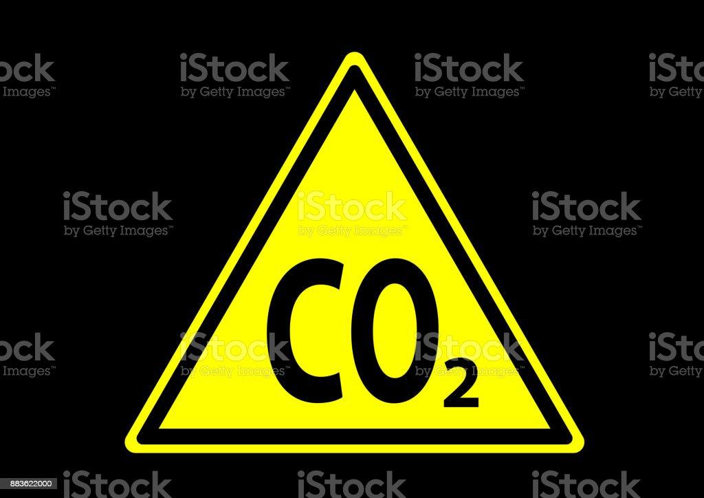 CO2-waarschuwingvectorkunst illustratie