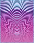 Warped and distorted Circle Halftone pattern abstract background