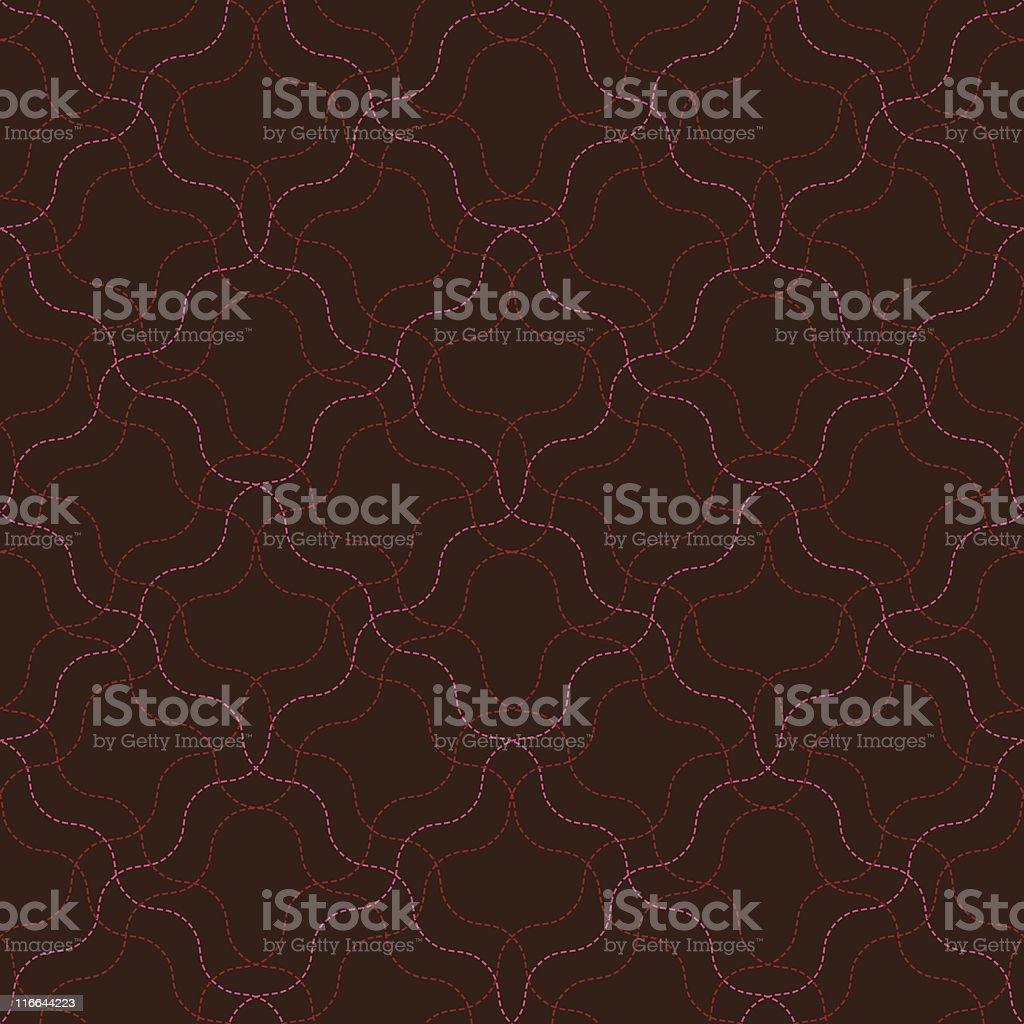 Warped Stitch (Seamless) royalty-free stock vector art