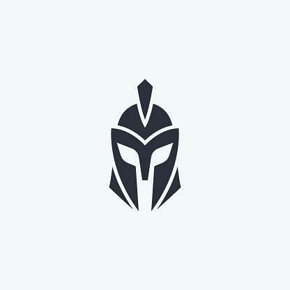 Warrior helmet icon.