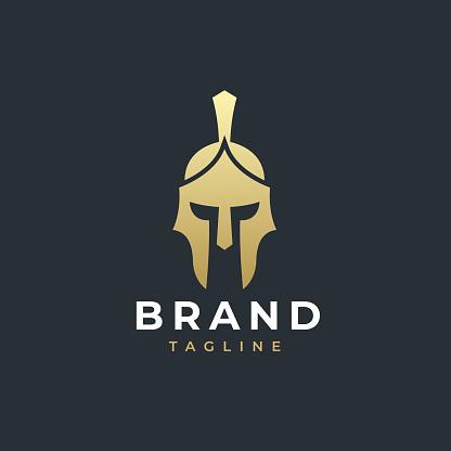 Warrior helmet logotype concept.