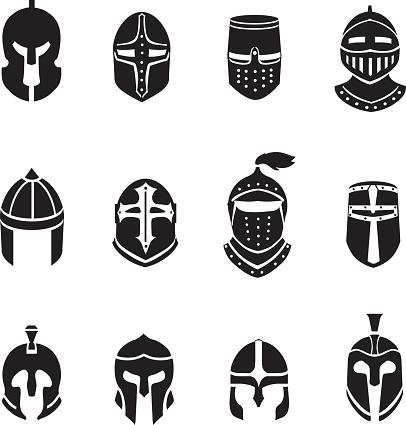 Medieval warrior knight in helmet Royalty Free Vector Image  Knights Helmet Logo