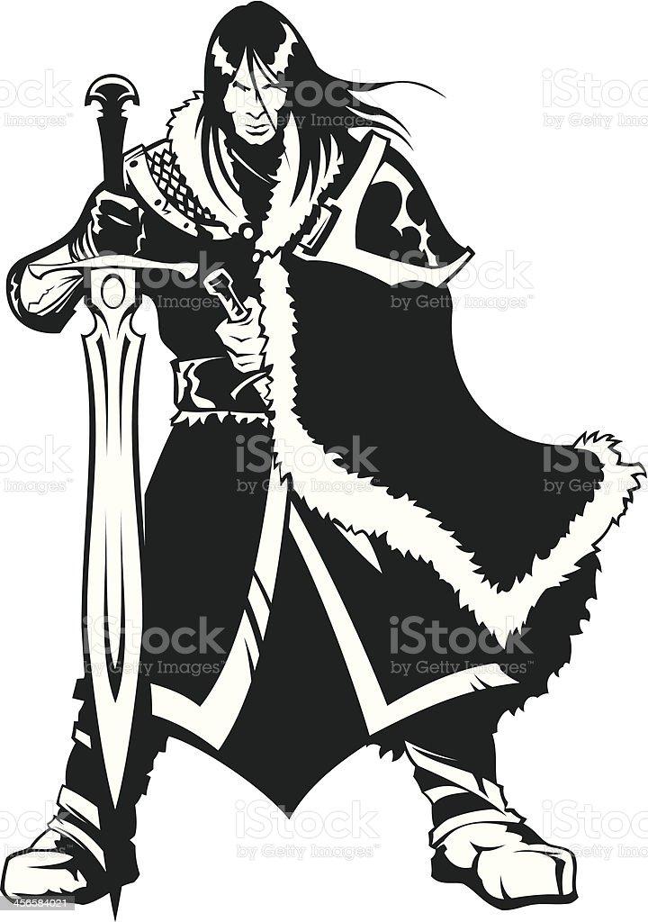 Warrior of North royalty-free stock vector art