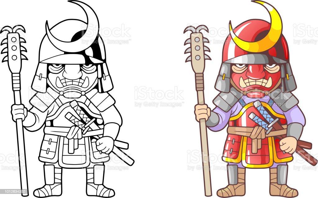 Ilustración de Samurai Warrior Ilustración Divertido Libro Para ...