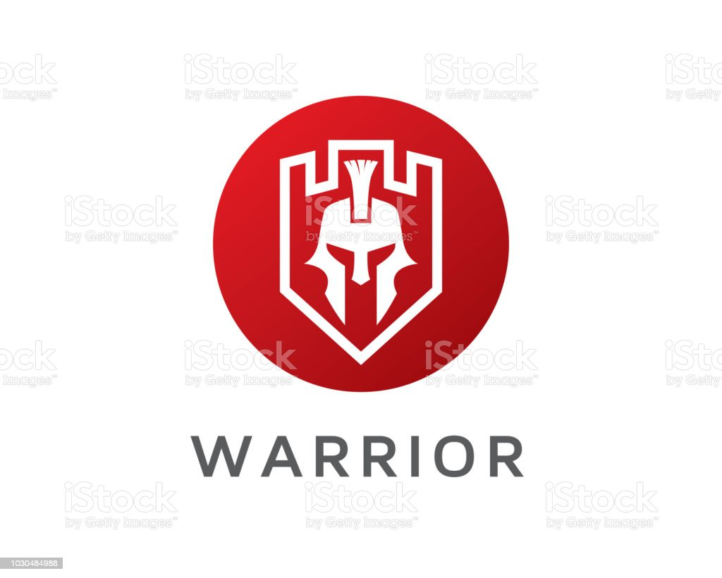 warrior symbol icon design template stock vector art more images