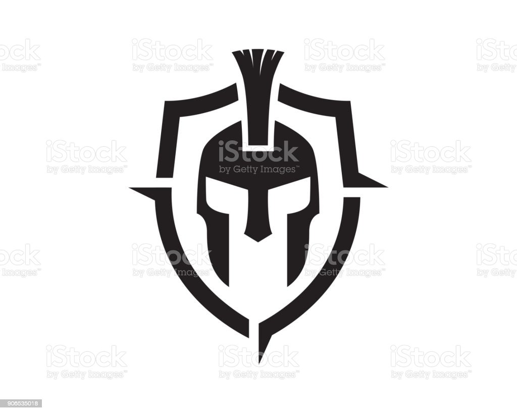 warrior symbol template design vector emblem design concept creative