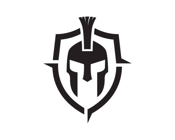 illustrations, cliparts, dessins animés et icônes de guerrier symbole template design vecteur, emblème, design concept, création de symbole, icône - désert