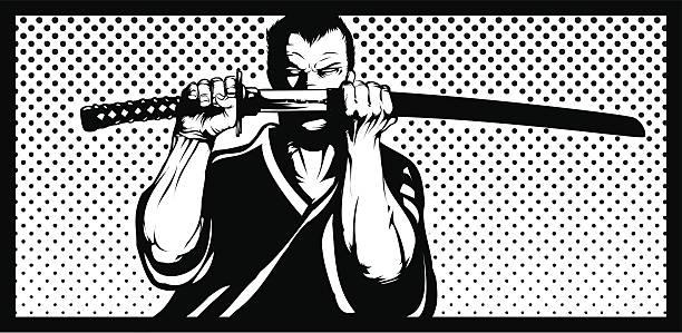 Warrior vector art illustration