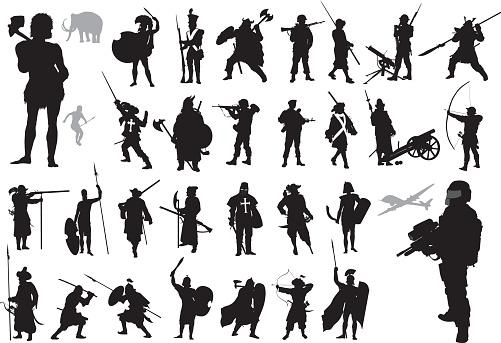 Warriors collection. Vector