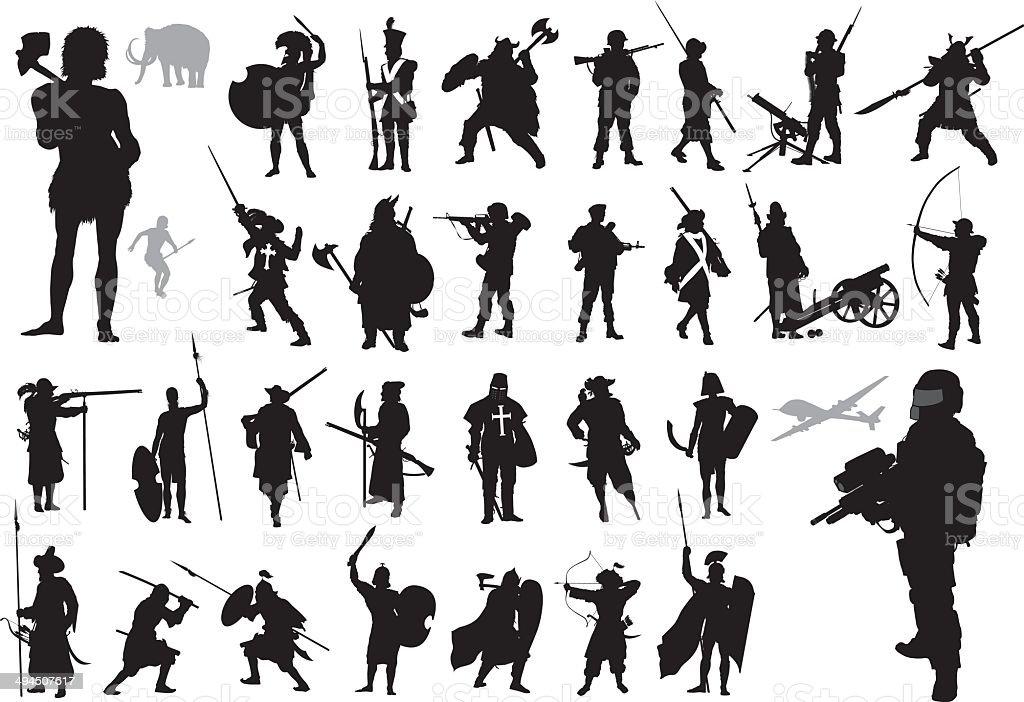Warriors collection. Vector vector art illustration