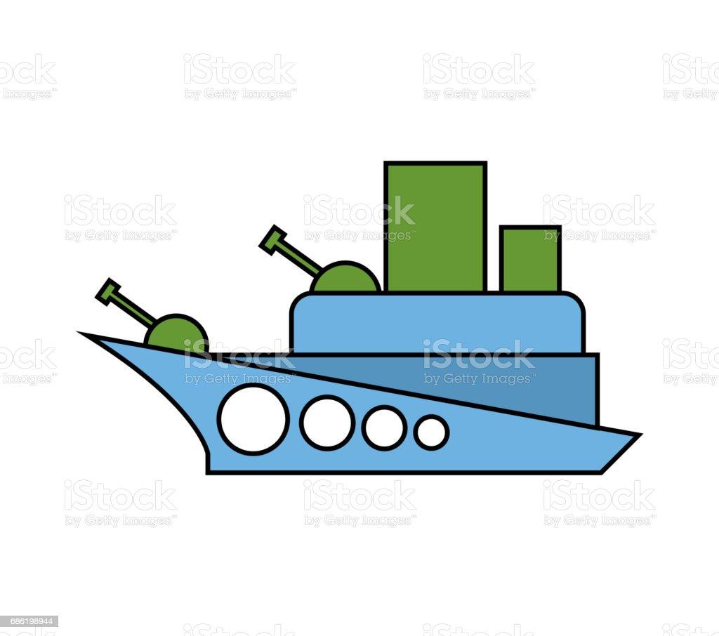 Childs De Navire De Guerre Style De Dessin Bateau De Combat Militaire Isole Vecteurs Libres De Droits Et Plus D Images Vectorielles De Arme A Feu Istock