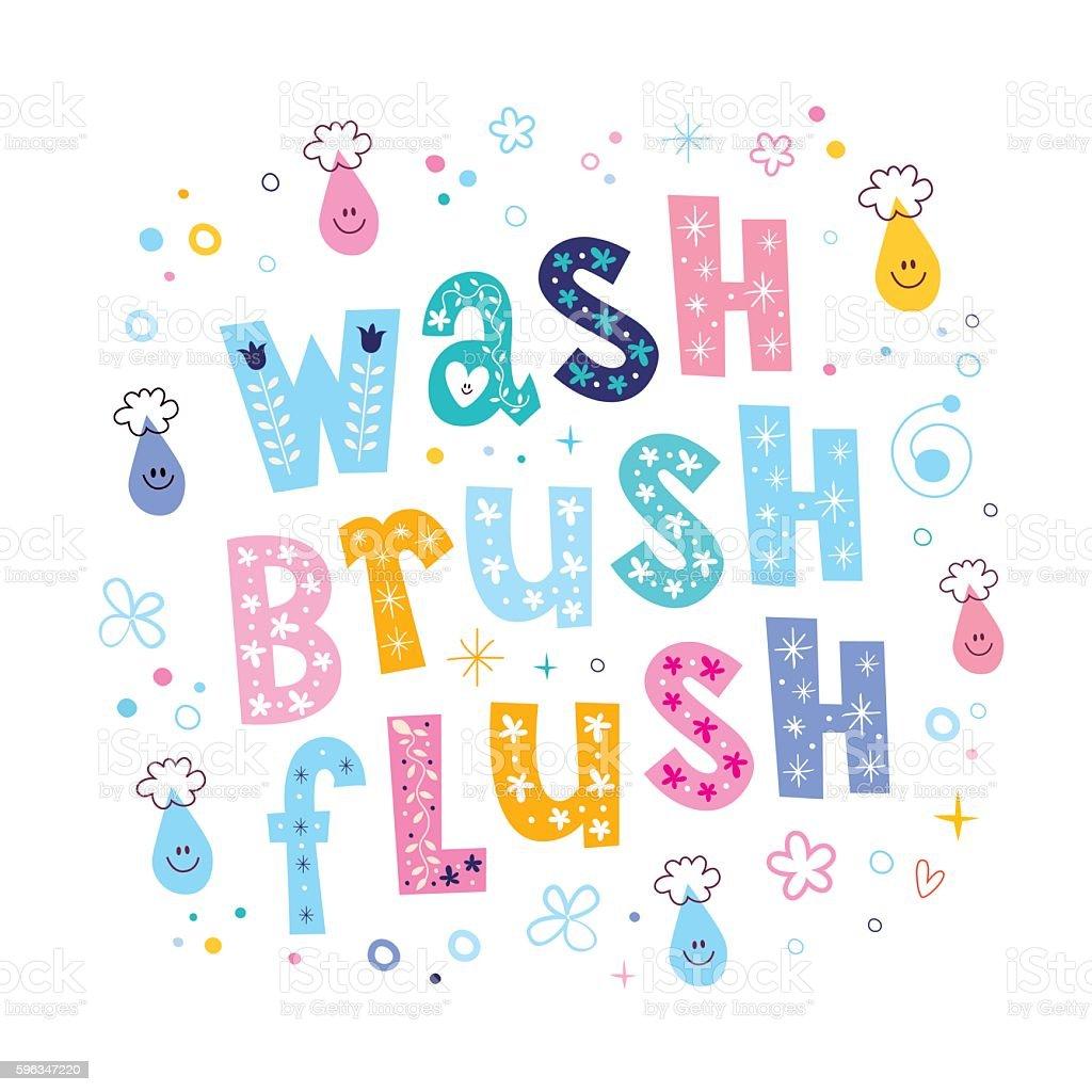 wash brush flush royalty-free wash brush flush stock vector art & more images of beauty product