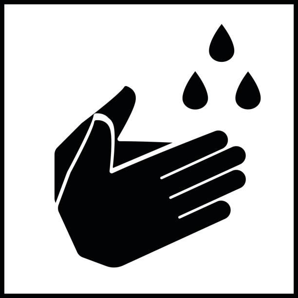 bildbanksillustrationer, clip art samt tecknat material och ikoner med tvätta handikonen - washing hands
