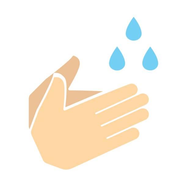 bildbanksillustrationer, clip art samt tecknat material och ikoner med tvätta handen ikonen vektor - washing hands