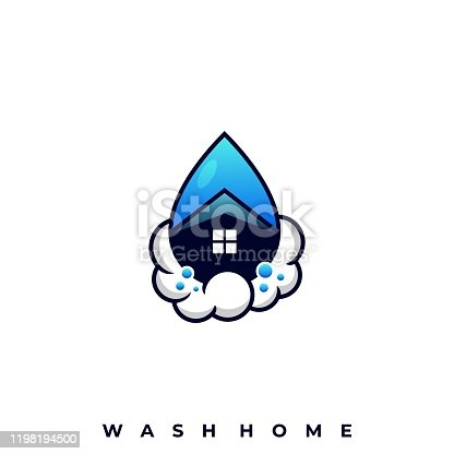 istock Wash Home Illustration Vector Template 1198194500