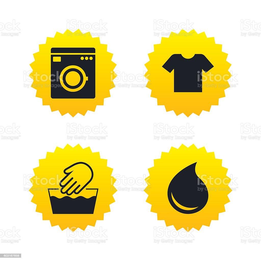 Wash Icon Not Machine Washable Symbol Stock Vector Art 603167658
