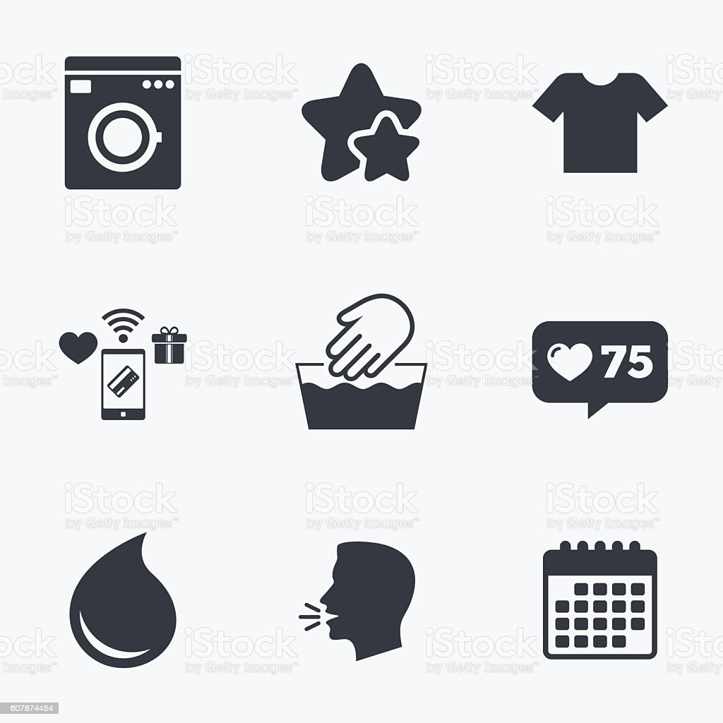 Wash Icon Not Machine Washable Symbol Stock Vector Art More Images