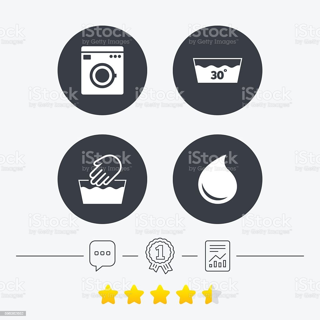Wash icons. Machine washable at thirty degrees. royalty-free wash icons machine washable at thirty degrees stock vector art & more images of appliance
