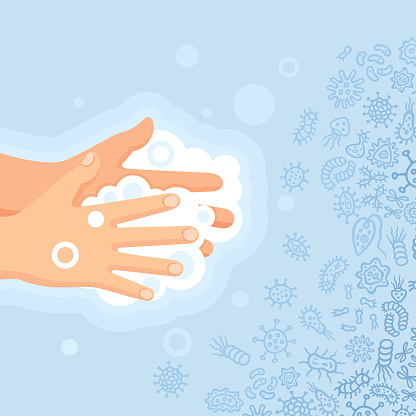 Wash your hands and protect from virus, germs and bacteria.