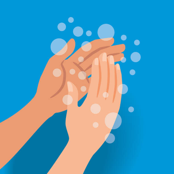 Wash Your Hands Frequently Vector Illustration of a Medical Advice to Stay Healthy to prevent viral infections: Wash Your Hands Frequently infectious disease stock illustrations