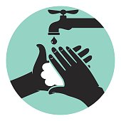 Wash your hands, icon vector illustration