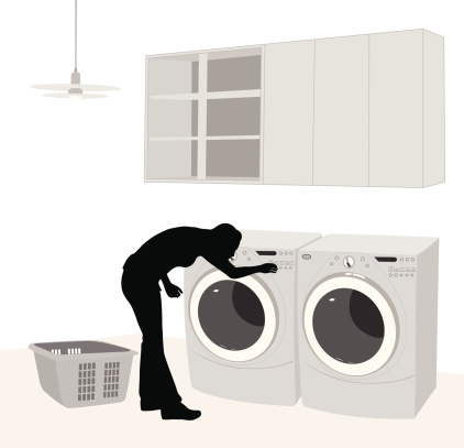 Washer Dryer Vector Silhouette