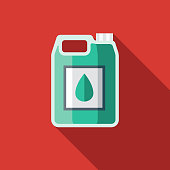 Washer Fluid Flat Design Car Service Icon