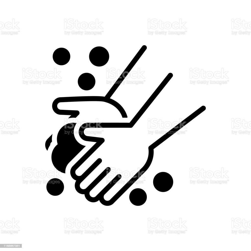 Mão de lavagem - Vetor de Desinfecção royalty-free